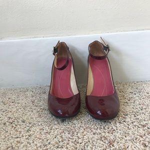 Maroon Kate Spade Block Heels